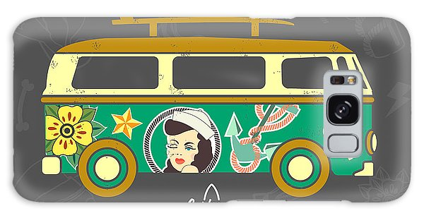 Board Galaxy Case - Bus With Surfboard by Naches
