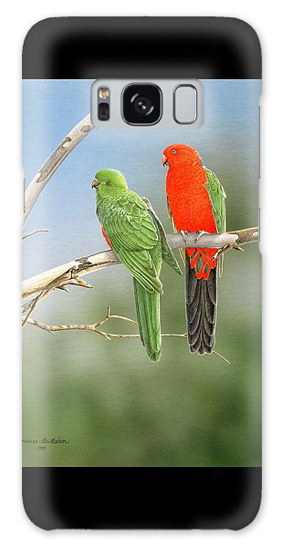 Bush Monarchs - King Parrots Galaxy Case by Frances McMahon