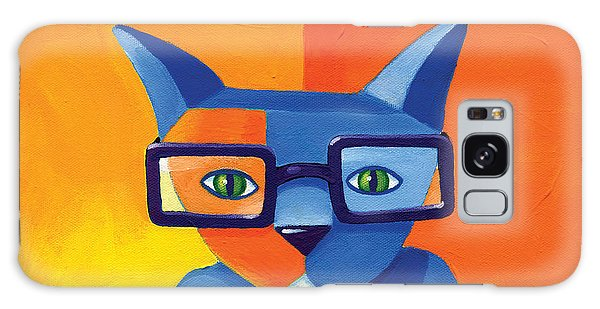 Cat Galaxy S8 Case - Business Cat by Mike Lawrence
