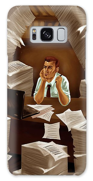 Drown Galaxy Case - Businessman With Heap Of Papers by Fanatic Studio / Science Photo Library