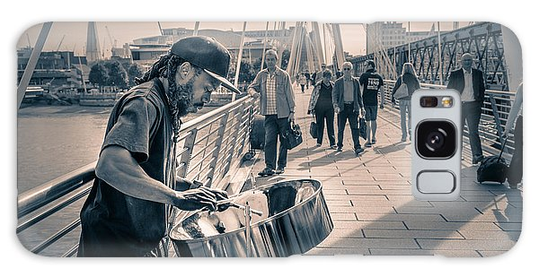 Busker Playing Steel Band Drum Steelpan In London Galaxy Case