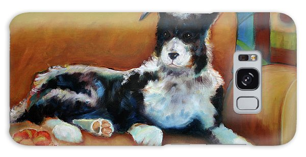 Buster The Border Collie Galaxy Case