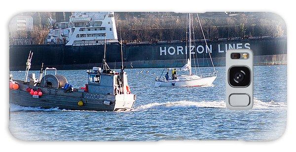 Busy Harbor Galaxy Case