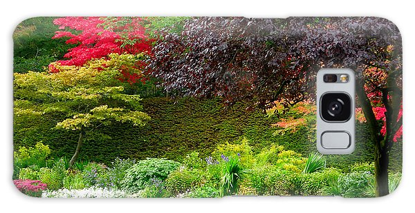 Butchart Gardens Lawn And Tree Galaxy Case