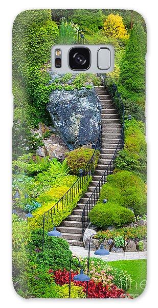 Butchart Gardens Stairs Galaxy Case
