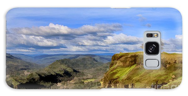Butte Creek Canyon Overlook Galaxy Case