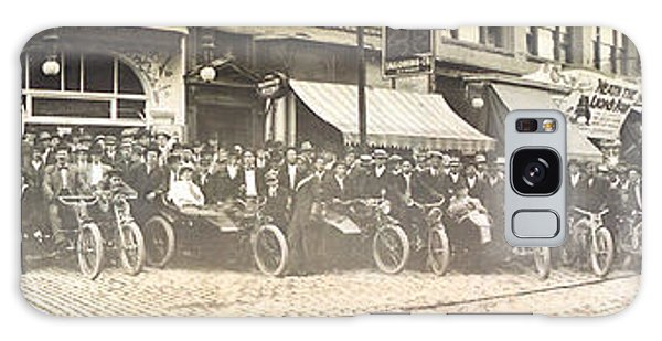 Butte Motorcycle Club 1914 Sepia Tone Galaxy Case