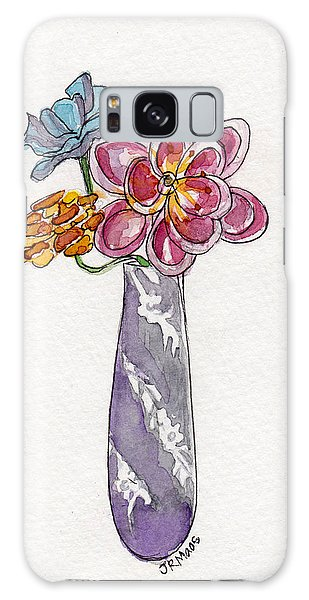 Butter Knife Vase With Flowers Galaxy Case by Julie Maas