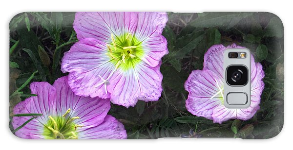 Buttercup Wildflowers - Pink Evening Primrose Galaxy Case