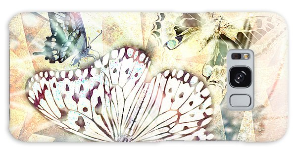Butterflies Geometric 4 Galaxy Case