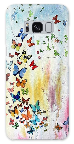 Butterflies Galaxy Case by Tom Riggs