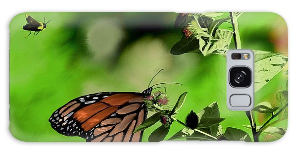 Butterfly And Bee Galaxy Case by Ron Grafe