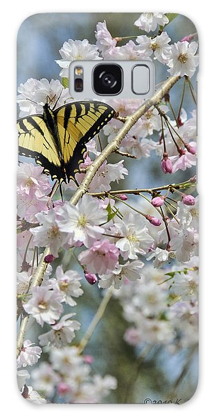 Butterfly And Blooms Galaxy Case by Kenny Francis