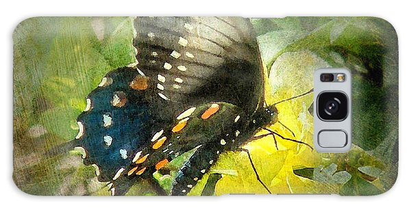 Butterfly And Jasmine Galaxy Case by Bill Voizin