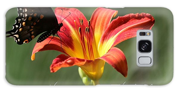 Butterfly And Lily Holiday Card Galaxy Case