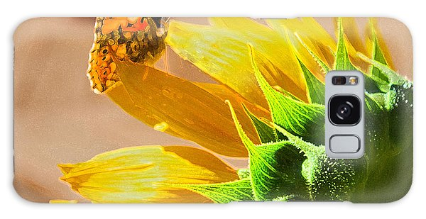 Butterfly And Sunflower Meeting Galaxy Case