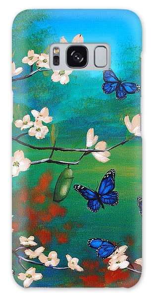 Butterfly Blue Galaxy Case