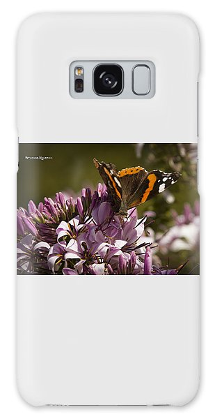 Galaxy Case featuring the photograph Butterfly Close Up by Stwayne Keubrick