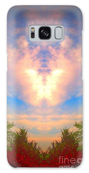 Butterfly Cloud Galaxy Case by Karen Newell
