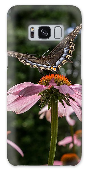 Butterfly Flies Away Galaxy Case by Glenn DiPaola
