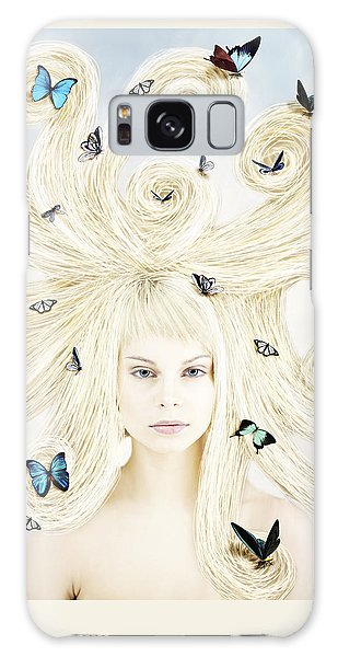 Butterfly Girl Galaxy Case by Linda Lees