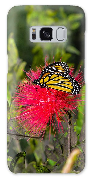 Butterfly In Flower Bush Galaxy Case