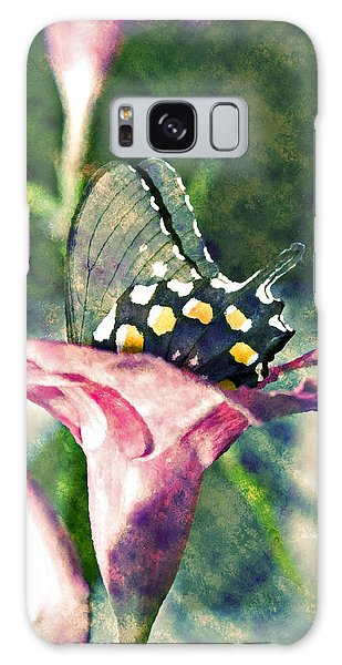 Butterfly In Flower Galaxy Case