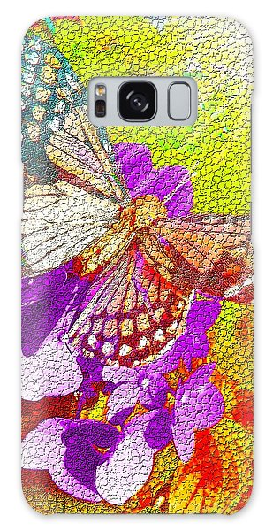 Butterfly In Sunlight Galaxy Case by Nico Bielow