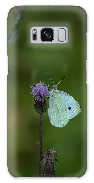 Butterfly In White 2 Galaxy Case