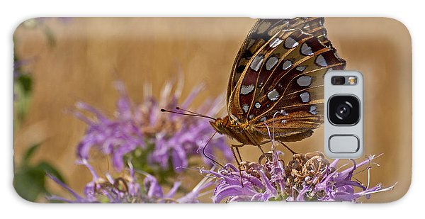 Butterfly On Bee Balm Galaxy Case