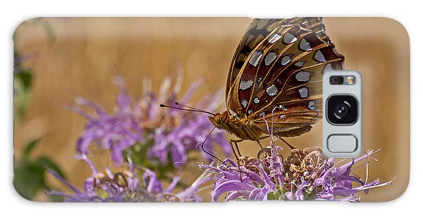 Butterfly On Bee Balm Galaxy Case by Shelly Gunderson