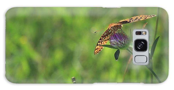 Butterfly On Clover Galaxy Case