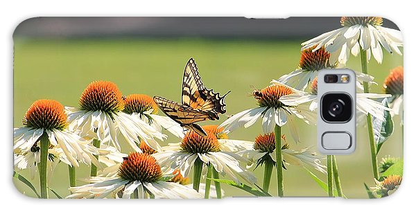 Butterfly On Echinacea Galaxy Case