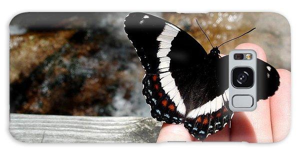 Butterfly On Fingertips Galaxy Case