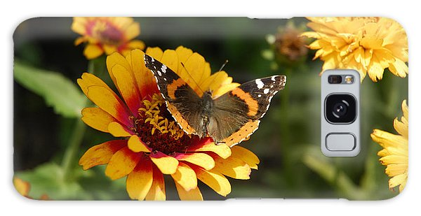 Butterfly On Flower Galaxy Case by Charles Beeler
