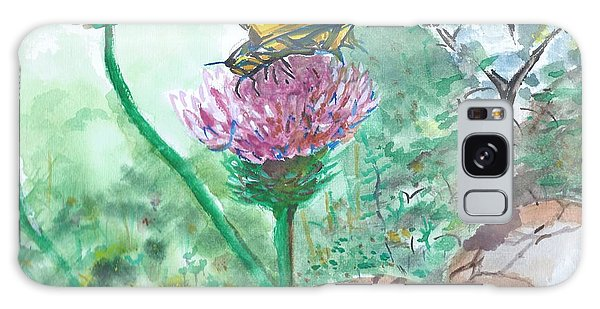 Butterfly On Flower  Galaxy Case