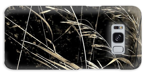 Butterfly On Grasses Galaxy Case by Marsha Heiken