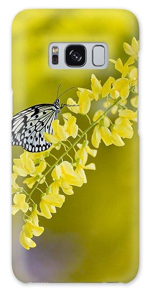 Butterfly On Laburnum Galaxy Case