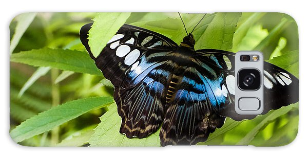 Butterfly On Leaf   Galaxy Case