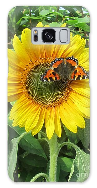 Butterfly On Sunflower Galaxy Case by Jeepee Aero