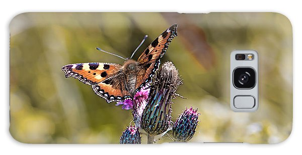 Galaxy Case featuring the photograph Butterfly On Tistle Sep by Leif Sohlman