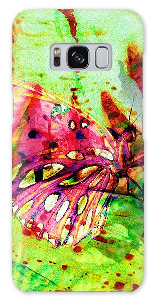 Butterfly That Was A Muscian Galaxy Case by David Mckinney