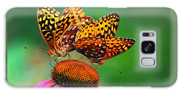 Galaxy Case featuring the photograph Butterfly Twins by Christina Rollo