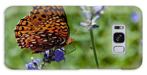 Butterfly Visit Galaxy Case
