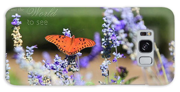 Butterfly With Message Galaxy Case