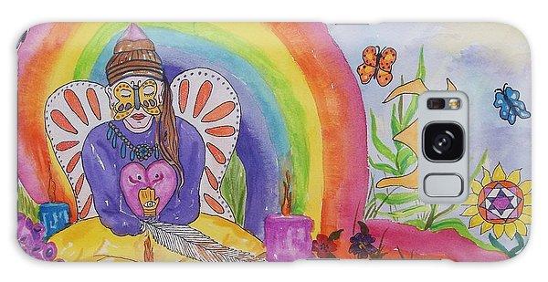 Butterfly Woman Healer I Am Galaxy Case by Ellen Levinson