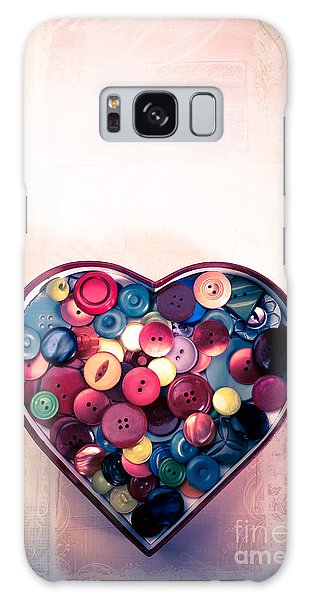 Button Love Galaxy Case