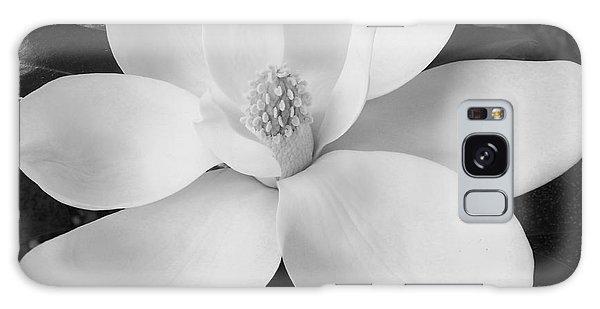 B W Magnolia Blossom Galaxy Case by D Hackett