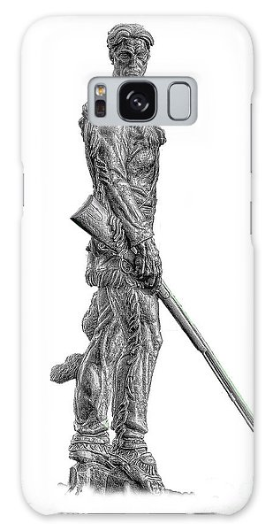 Bw Of Mountaineer Statue Galaxy Case