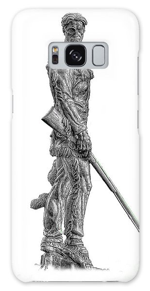 Galaxy Case featuring the photograph Bw Of Mountaineer Statue by Dan Friend